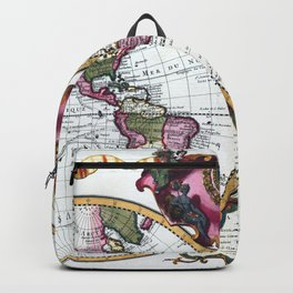 World map wall art 1720 dorm decor mappemonde Backpack