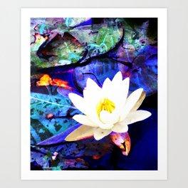 Electrifying Lotus Art Print