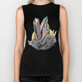 Rainbow Metallic Crystals Biker Tank