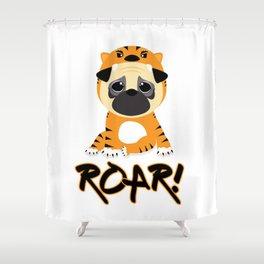 Pug Tiger Shower Curtain