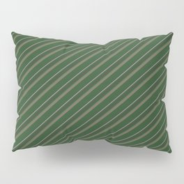 Pink Roses in Anzures 1 Stripes 2D Pillow Sham