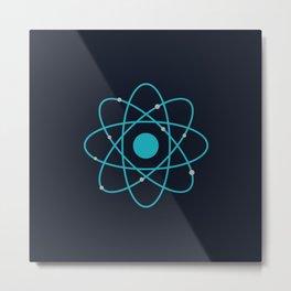 Atom, Molecules, DNA, Science decor, science class Metal Print