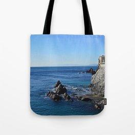 Amazing sea landcape from Genova , Italy Tote Bag