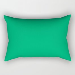 GO Green - solid color Rectangular Pillow