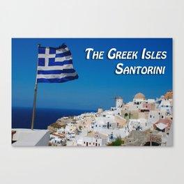 The Greek Isles - Santorini Greece Canvas Print