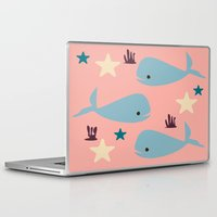 the whale Laptop & iPad Skins featuring Whale by BruxaMagica_susycosta