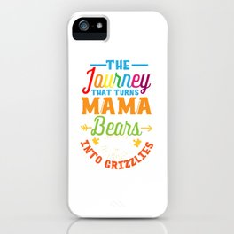 Autism Mom Mama Bear Gift - Autism Awareness Month iPhone Case