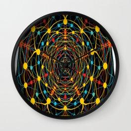 neural mandala 2 Wall Clock