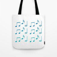 music notes Tote Bags featuring Music Notes by magnez2