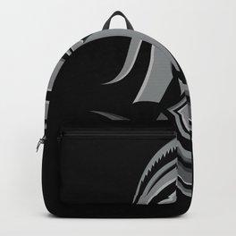 Spartan Warrior Head Metallic Icon Backpack
