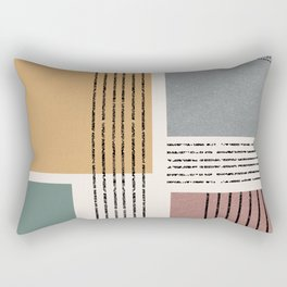 Modern Geo Design  Rectangular Pillow