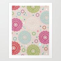 Lace&Rosaces Art Print