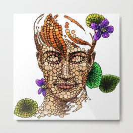 A Beautiful Ginger Boy and Nature Metal Print
