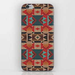 Native American Indian Tribal Mosaic Rustic Cabin Pattern iPhone Skin