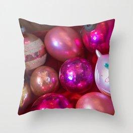 Pink Christmas Throw Pillow