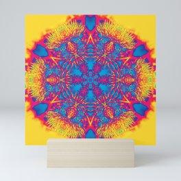 Vibrant thistle mandala Mini Art Print