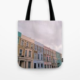 Colourful houses in Notting Hill, London Tote Bag