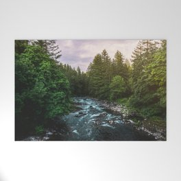 PNW River Run II - Pacific Northwest Nature Photography Welcome Mat