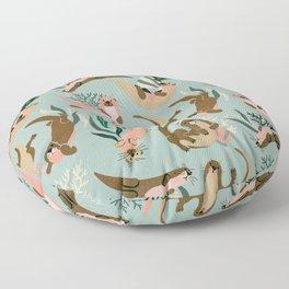 Otter Collection - Mint Palette Floor Pillow
