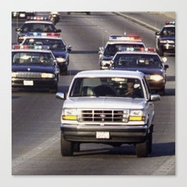 OJ Simpson Car Chase Canvas Print