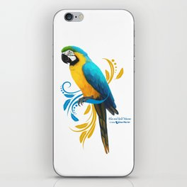 Blue and Gold Macaw iPhone Skin