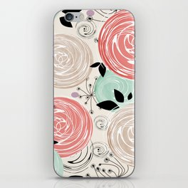 Retro . Abstract floral pattern. f iPhone Skin
