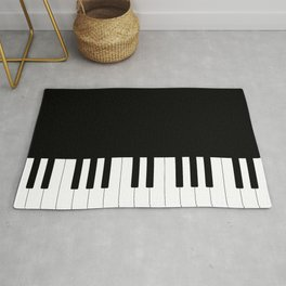 Black and White Piano Keys Rug