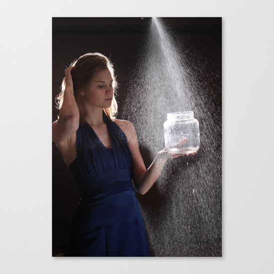 Waterfall of Words Canvas Print