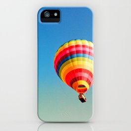 Hot air balloon colorful iPhone Case
