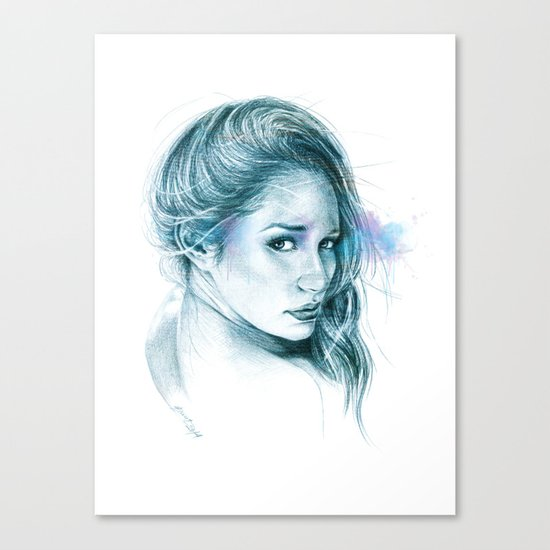 Look away, look away... | blue Canvas Print
