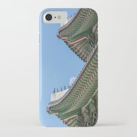 korea iPhone & iPod Cases featuring Gyeongbokgung Palace Lines_South Korea by Jennifer Stinson