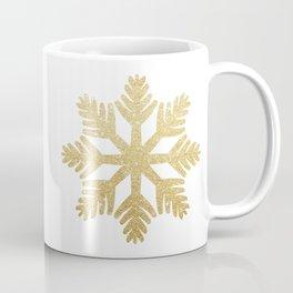 Gold Glitter Snowflake Coffee Mug