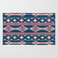 kilim Area & Throw Rugs featuring Salina by Little Brave Heart Shop