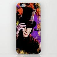 willy wonka iPhone & iPod Skins featuring Willy Wonka  by Zoé Rikardo