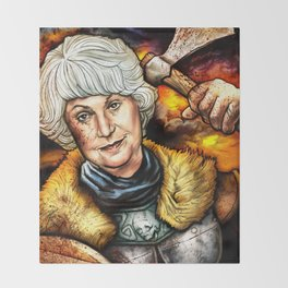 """Picture it: Sicily 1061"" Golden Girls- Bea Arthur Throw Blanket"