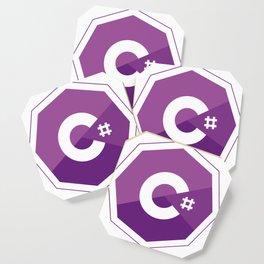 C# logo for csharp developers visual studio Coaster