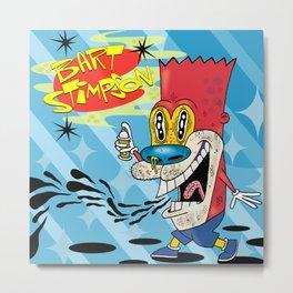 Bart Stimpson Metal Print