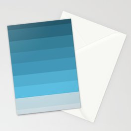 Blue Lagoon stripes pattern Stationery Cards