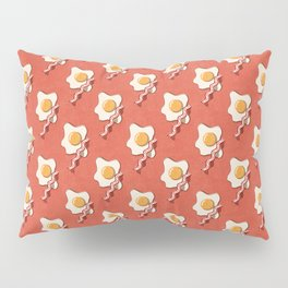 FAST FOOD / Egg and Bacon - pattern Pillow Sham