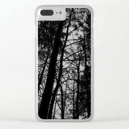 B/W Forest Clear iPhone Case
