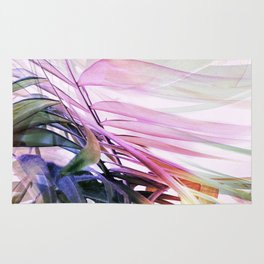 Colourful Palm Abstract Rug