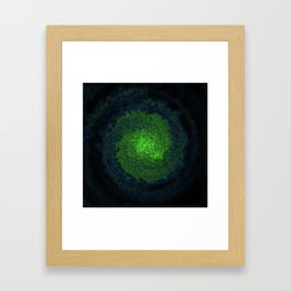 green galaxy Framed Art Print