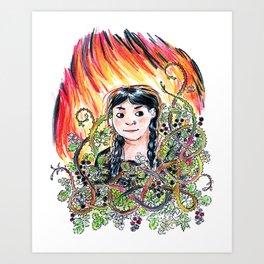 Elements (Emily) Art Print