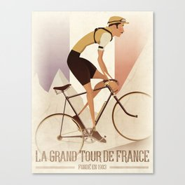 Tour De France Cycling Grand Tour Canvas Print