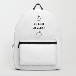 BE KIND - GO VEGAN Backpack