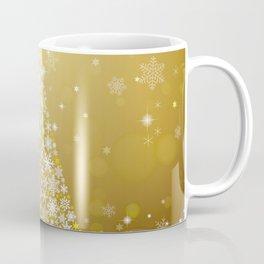 Gold Snowflakes Sparkling Christmas Tree Coffee Mug