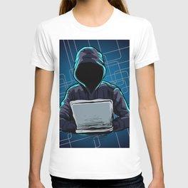Computer hacker spread a net T-shirt