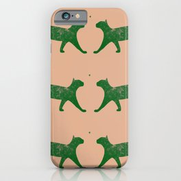 Pattern Cats Chasing Butterfly iPhone Case