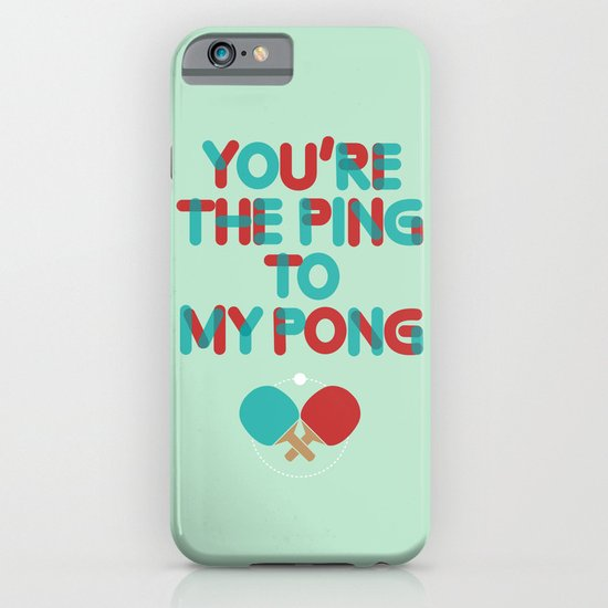Love is like ping pong iPhone & iPod Case