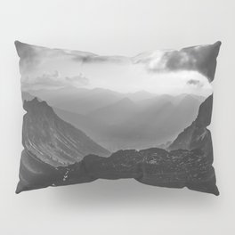 Valley - black and white landscape photography Pillow Sham